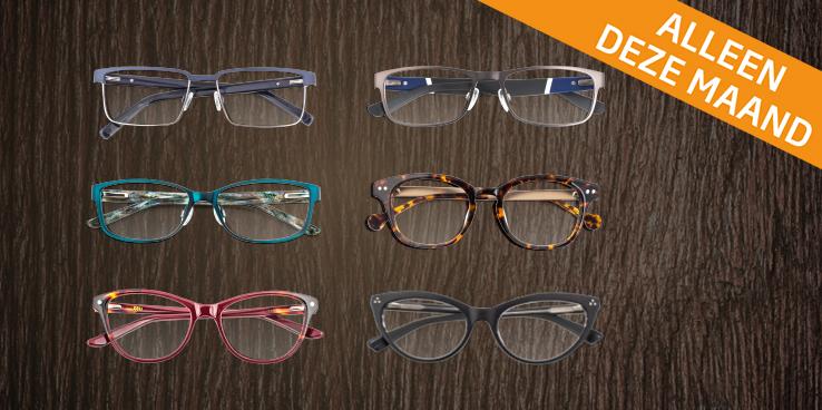 50% sale op alle merkbrillen