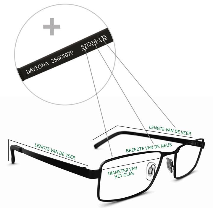 How To Measure Glasses Frame Width : Hulp bij montuurafmetingen Specsavers
